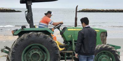 Traslado de tractor agrícola desde Isla Jambelí hasta Santa Rosa